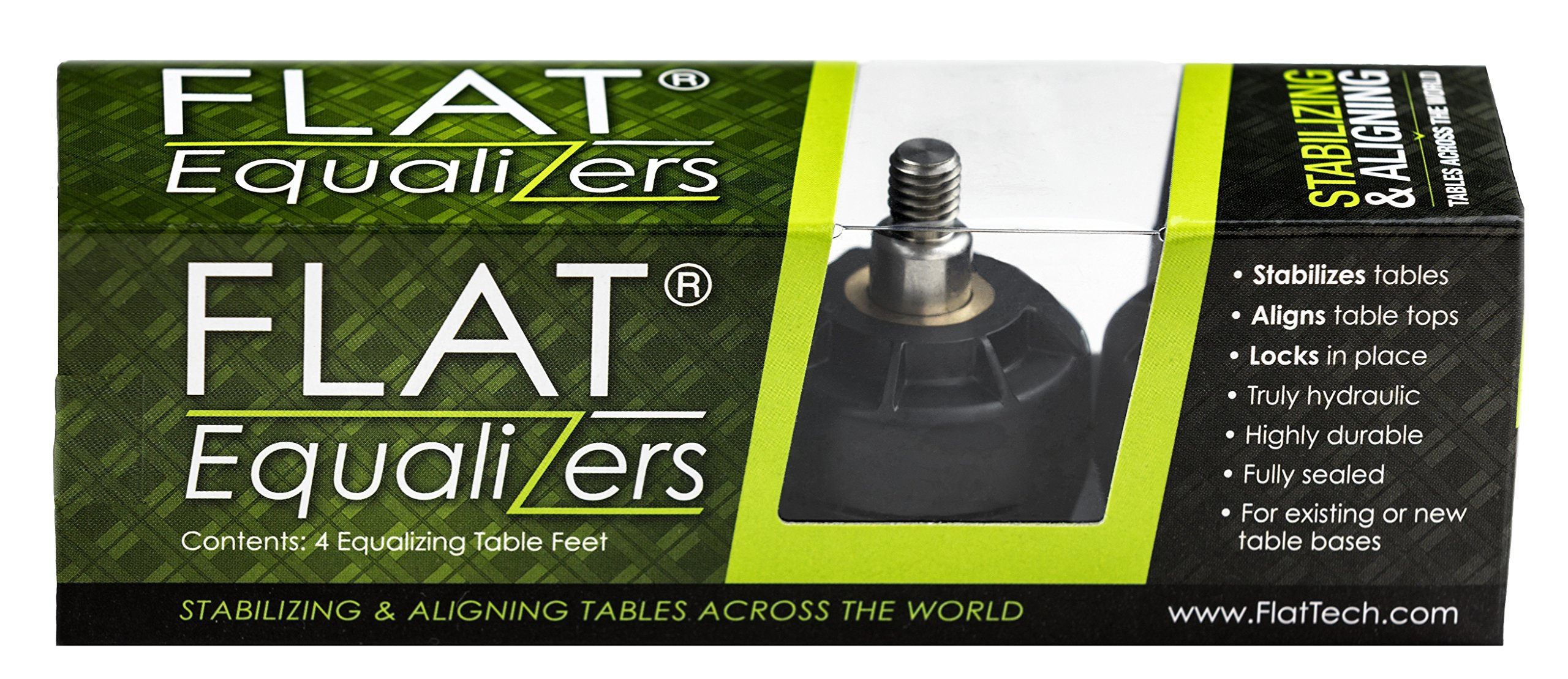 FLAT Equalizers (Stabilizing Table Feet) - 5/16'' -18 Thread Size