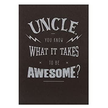 Amazon Hallmark Birthday Greeting Card For Uncle Awesome