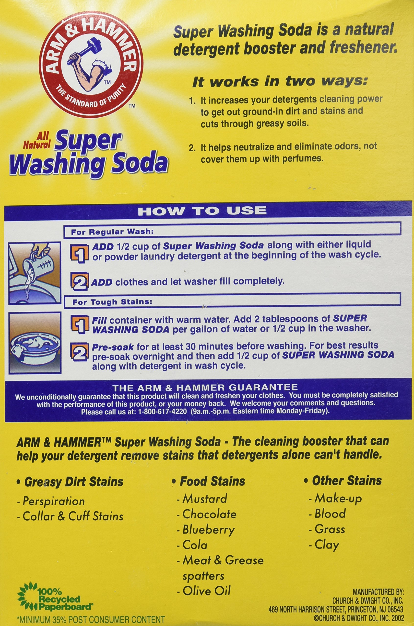 Arm & Hammer Super Washing Soda, 55 oz (Pack of 2) by Arm & Hammer (Image #2)