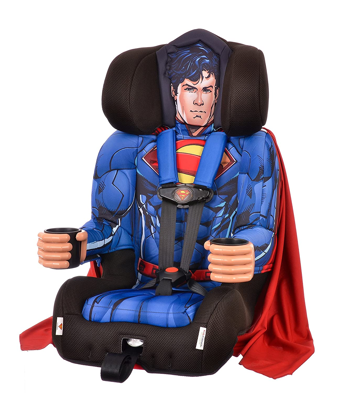KidsEmbrace Superman Booster Car Seat DC Comics Combination 5 Point Harness With Cape