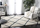Safavieh Hudson Shag Collection SGH281T Ivory and
