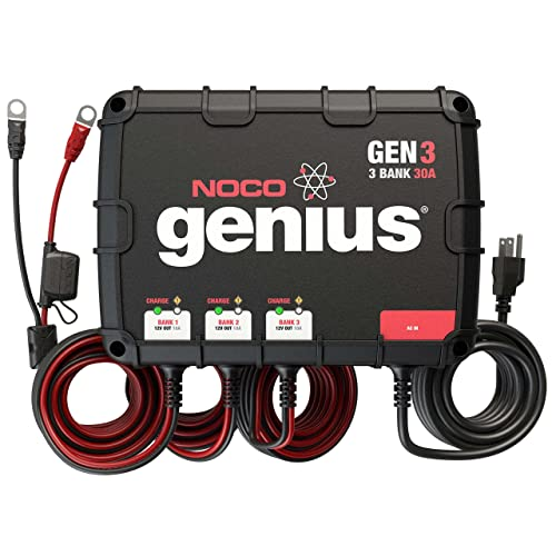 NOCO Genius GEN3 Battery Charger is arguably one of the best marine battery chargers out there.