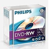 Philips 5xDVD DVD-RW 4,7GB 120min 4x JC