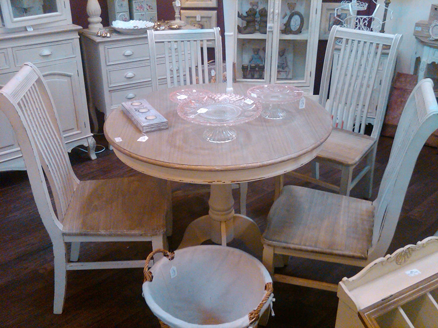 Shabby Chic French Style Country Side Hall Table With Drawers