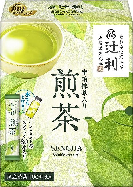 辻利宇治抹茶入り煎茶(スティック)30P×2箱粉末