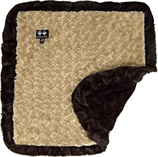 "product image for Bessie and Barnie Camel Rose/ Godiva Brown Luxury Ultra Plush Faux Fur Pet, Dog, Cat, Puppy Super Soft Reversible Blanket (Multiple Sizes), XS - 20"" x 20"""