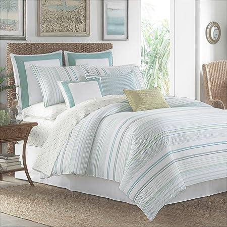 Tommy Bahama La Scala Breezer Comforter Set, Queen, Seaglass