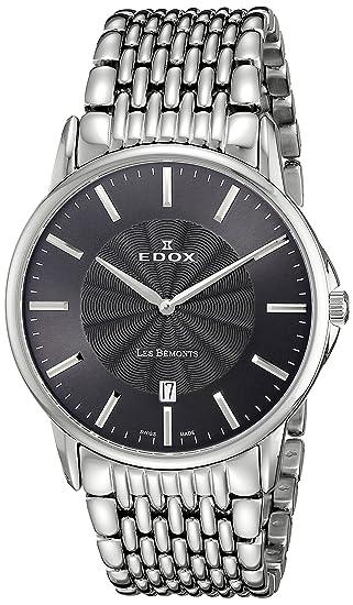 EDOX Reloj analógico para Hombre de Cuarzo con Correa en Acero Inoxidable 56001 3M Gin