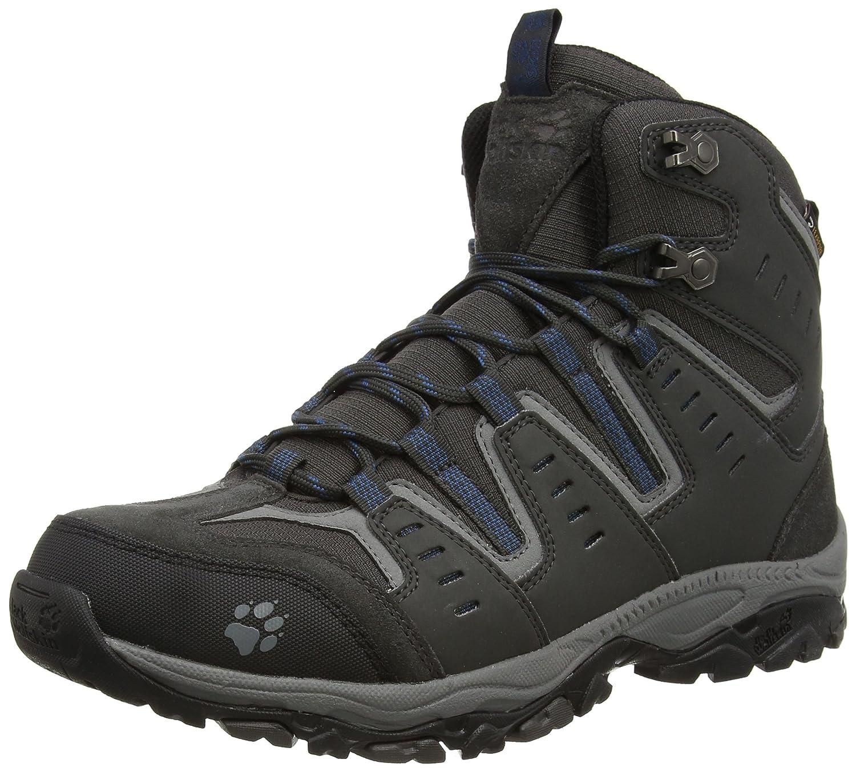 gris (Morccan bleu 1800) 44.5 EU Jack Wolfskin MTN Storm Texapore Mid M, Chaussures de Randonnée Hautes Homme