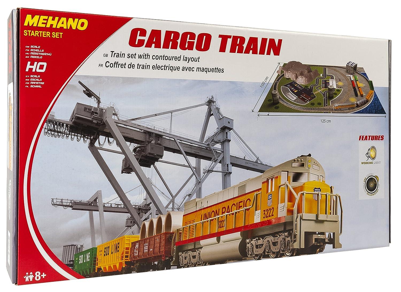 Mehano T113 Güterzug mit Layout - Elektrische Eisenbahn, Spur H0 ...