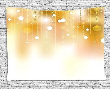 Perles Decoration De Ambesonne Arriere Plan Flou Avec Couleur Doree Cercles Classy Illustrations Decorations