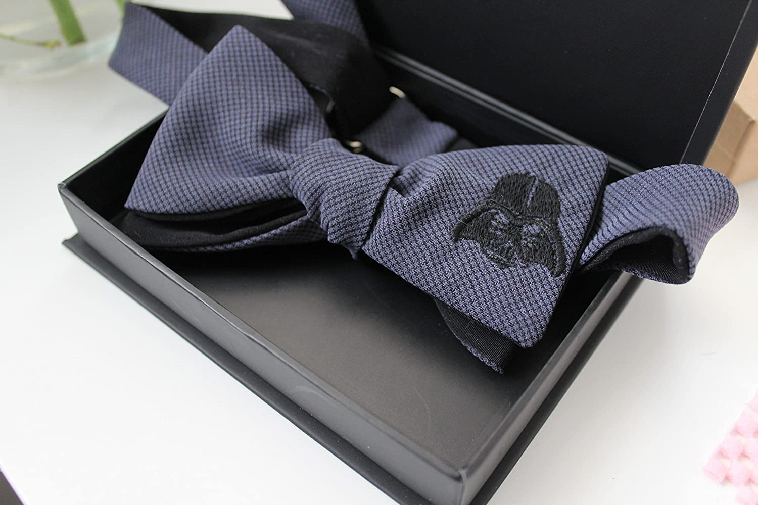 Charcoal Tencel Darth Vader Bow Tie by Handsome&Lace