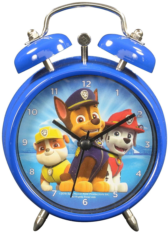 Paw Patrol 0121984 Despertador, metal, azul, 7,5 x 4 x 12 cm