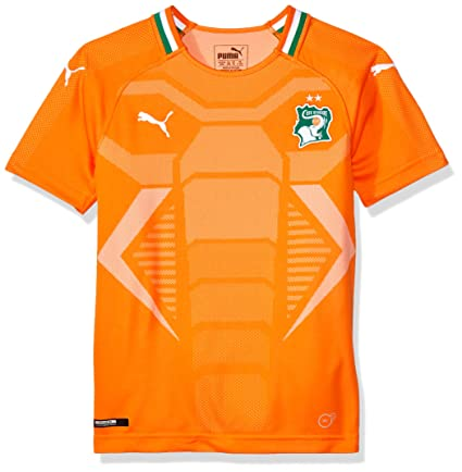 Image Unavailable. Image not available for. Color  PUMA 2018-2019 Ivory  Coast Home Football ... 2230fe50b
