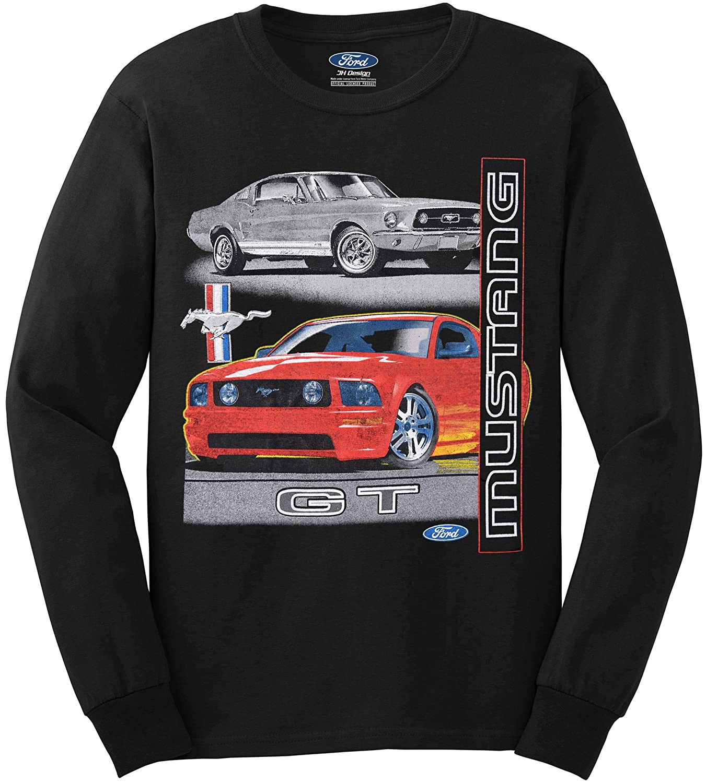 JH DESIGN GROUP Mens Ford Mustang GT T-Shirt a Long Sleeve T-Shirt for Men