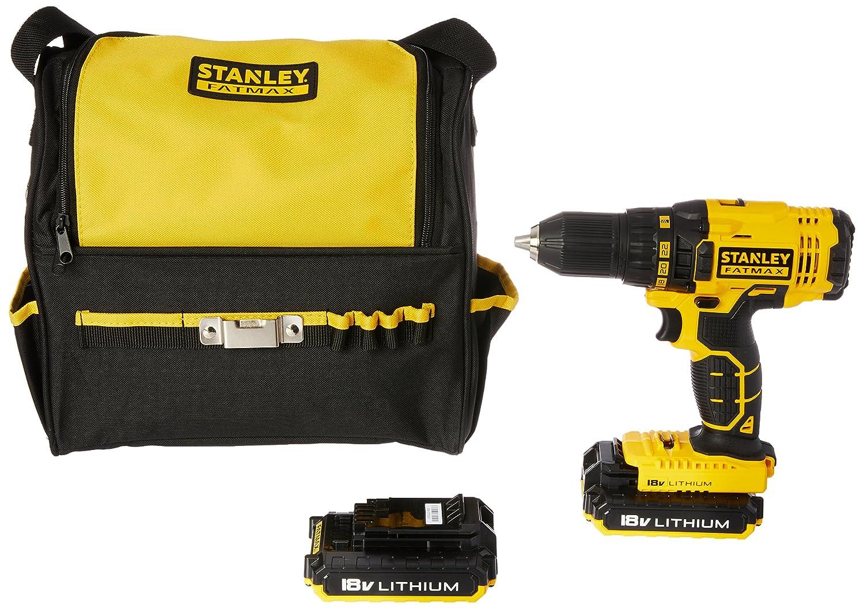 Stanley Fatmax Fmc601d2s Xe18v Lithium Ion Drill Driver Kit Amazon 18v Brushless Hammer Home Improvement