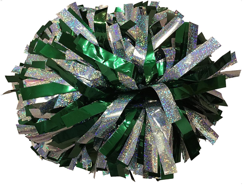 Paar- Metallic Cheerleading Pompons mit Taktstock Griff Jawl