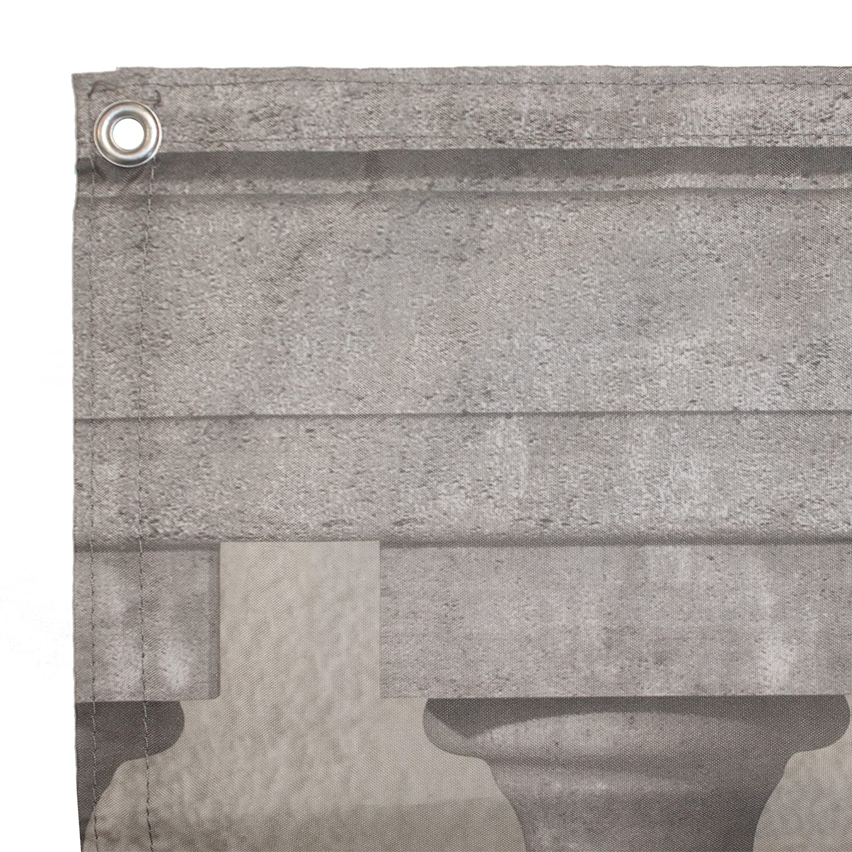 JAROLIFT Copertura per balcone idrorepellente telo di rivestimento e protezione per balcone 300 x 90 cm Motivo Colonne in pietra