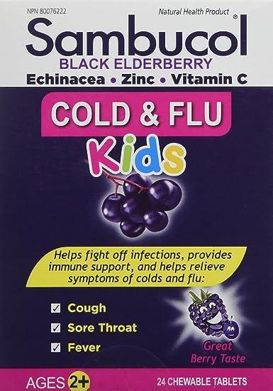 Amazon Com Sambucol Black Elderberry Cold Flu For Kids 24