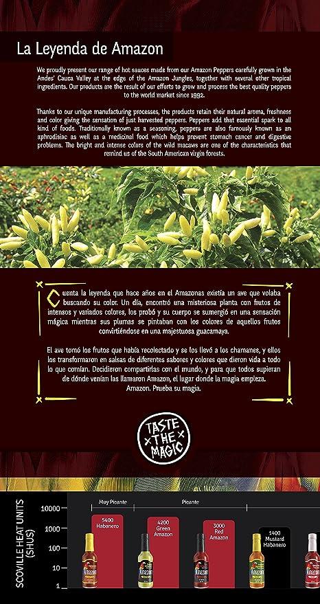 Amazon Salsa Habanero Muy Picante - 155 ml: Amazon.es: Alimentación y bebidas