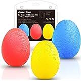 Dimples Excel Pelotas anti estrés bolas en Forma de Huevo para Ejercicios y Rehabilitación Fortalecimiento de Manos y Dedos