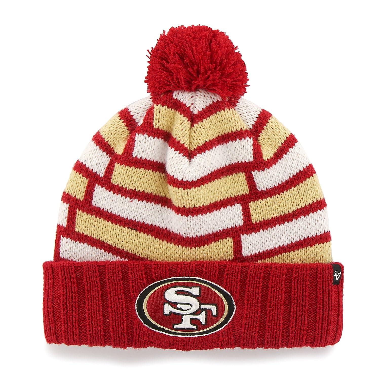 NFL ' 47 Breakout Cuff Knit Hat with Pom San Francisco 49ers San Francisco 49ers B00XC9YT5I