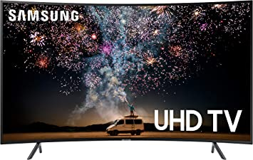 Amazon Com Samsung Un55ru7300fxza Curved 55 Inch 4k Uhd 7 Series Ultra Hd Smart Tv With Hdr And Alexa Compatibility 2019 Model Electronics