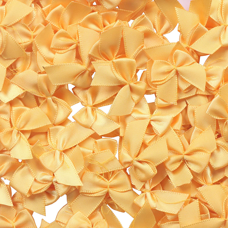 YAKA 80Pcs Mini Satin Ribbon Bows Flowers 1 x3//4Appliques DIY Craft Scrapbooking DIY Embellishmen Projects,Bow Decorations