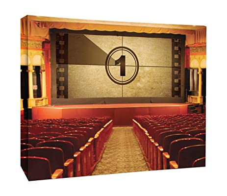 JP London CNV2197 Vintage Cinema Movie Theatre Film Stage Canvas Art ...
