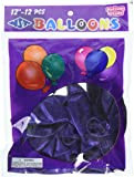 Firefly Imports Premium Latex Balloons Plain Color, 12-Inch, Purple, 12-Pack