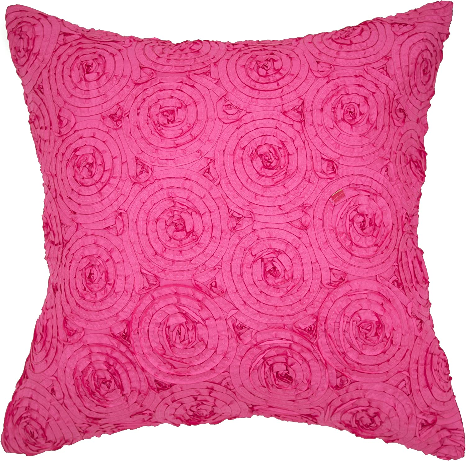 Amazon Com Avarada Solid Floral Bouquet Throw Pillow Cover Decorative Sofa Couch Cushion Cover Zippered 18x18 Inch 45x45 Cm Pink Home Kitchen