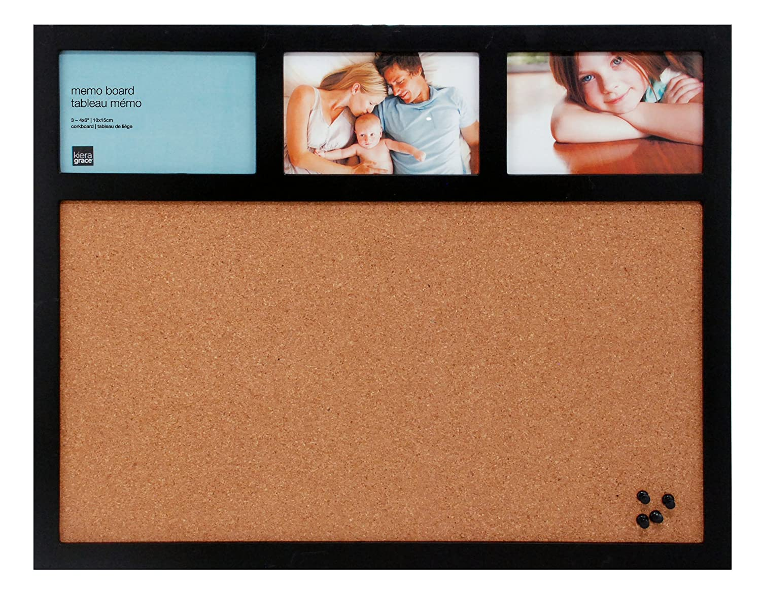 Amazon.com - Kiera Grace Cork Board and Collage Frame Combo, 16 by ...