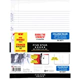 "Five Star Filler Paper, College Ruled, Reinforced, Loose Leaf Paper, 11 x 8.5"", 100 Sheets/Pack (17010)"