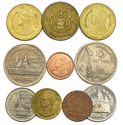 Amazon Com 10 Old Coins From Thailand Southeast Asia Collectible