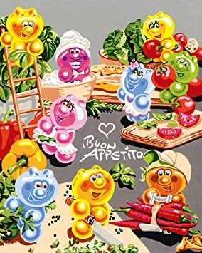 Ravensburger 28412 Gelini Kitchen Party By Numbers 30 X 24 Cm