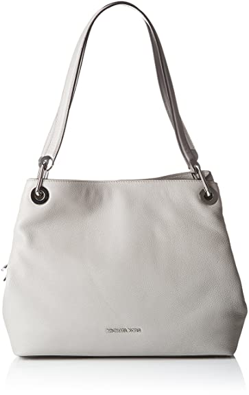3708e53c501a MICHAEL Michael Kors Women's Large Raven Shoulder Tote, Pearl Grey, One Size