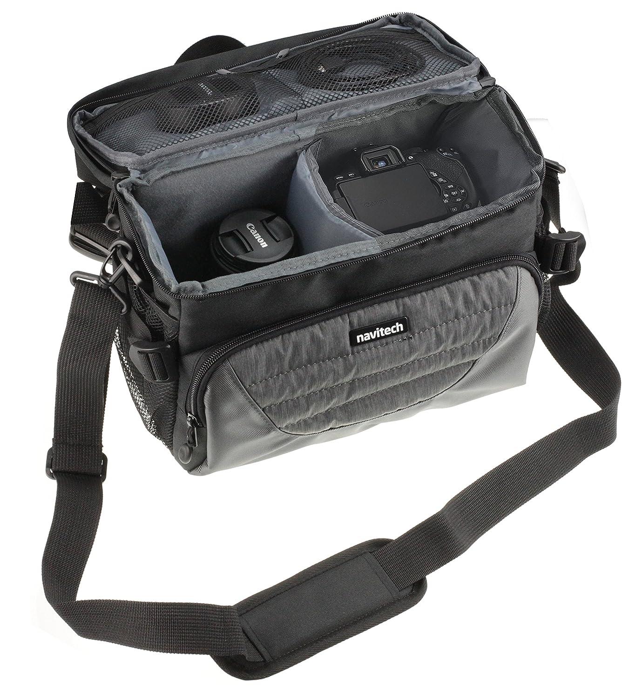 Navitech グレーデジタル一眼レフカメラ&レンズカメラバッグケースカバー 富士フイルムX-H1に対応   B07JMFHVK9