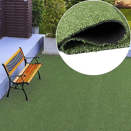 Tapiso Césped Artificial Exterior Alfombra de Hierba Sintético Terraza Jardín Balcón Enrollable por Metros 133 x 100 cm: Amazon.es: Hogar