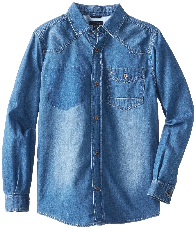 Tommy Hilfiger Boys Long-Sleeve Melvin Denim Shirt Tommy Hilfiger Boys 8-20 T874297W