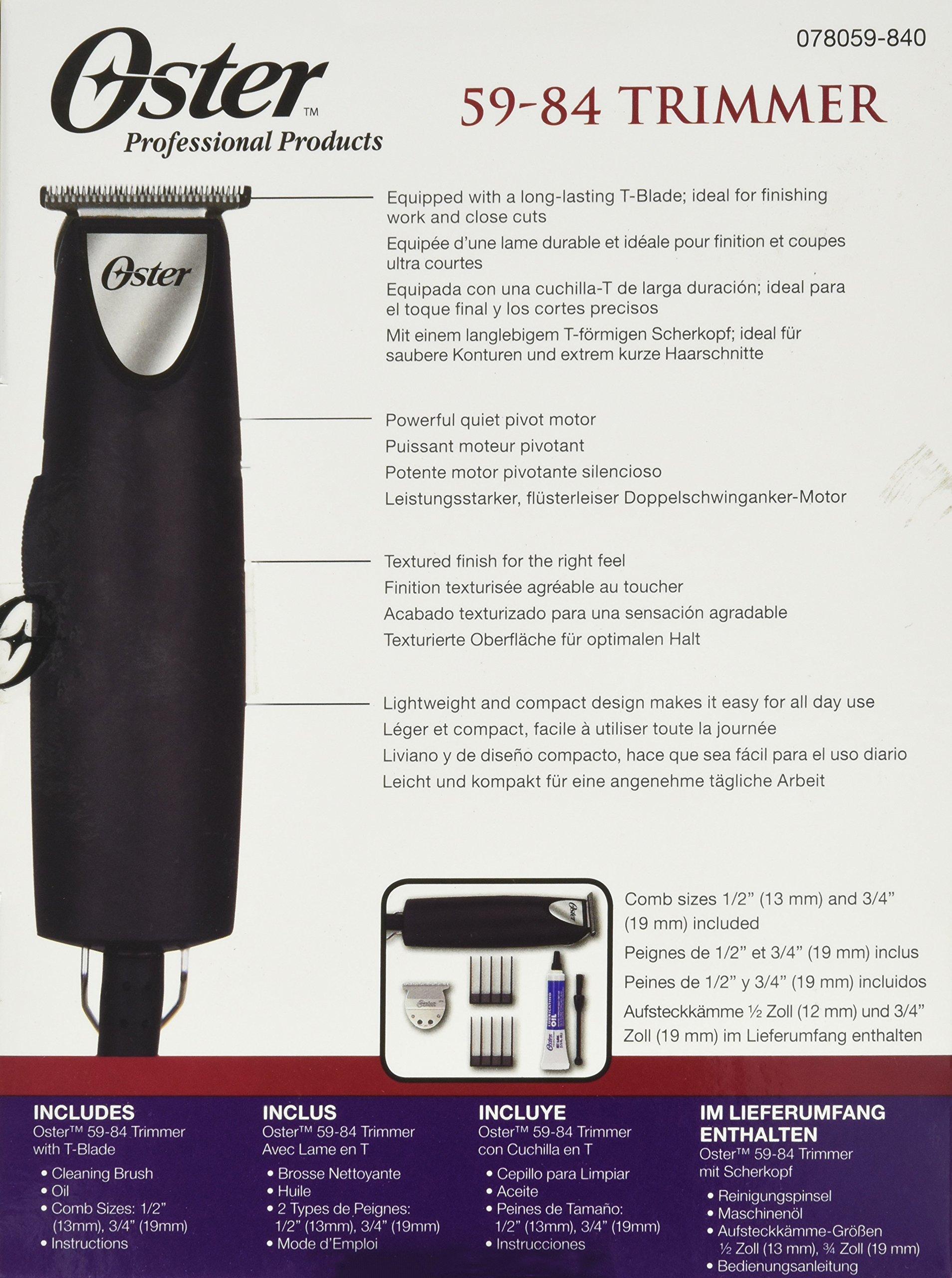 Oster Oster Professional 220v Hair Trimmer T-finisher 76059-840 Whisper Motor Free Dvd