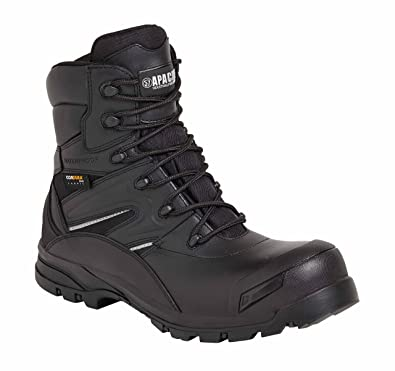 b2276ce47b8 Apache Combat S3 Waterproof High Leg Zip Up Composite Safety Boot