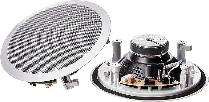 Amazon Basics Runde Einbau Lautsprecher Für Decke Wand Paar 20 Cm Audio Hifi