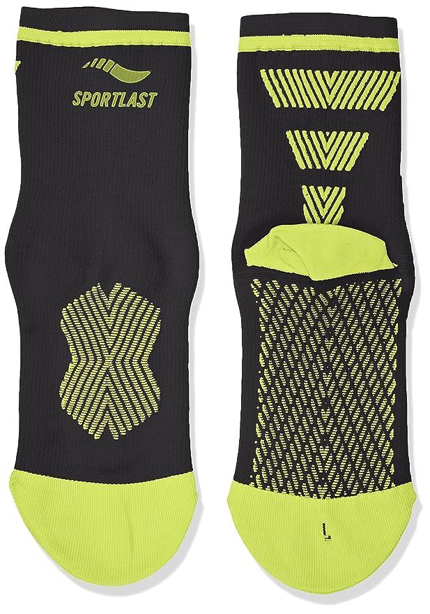 Sportlast Pro Calcetines de compresión para Ciclismo, Negro/Amarillo, XL: Amazon.es: Deportes y aire libre