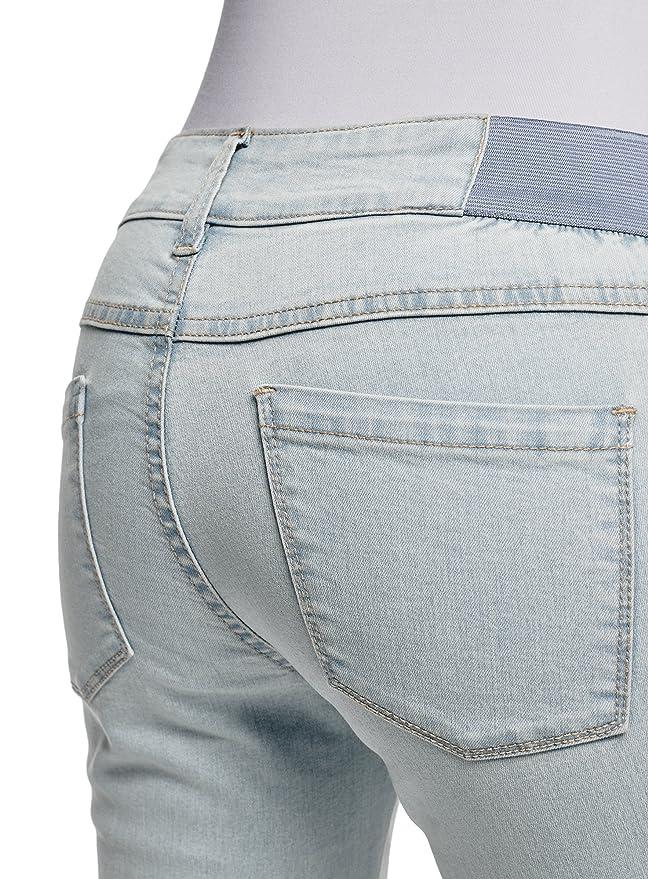 oodji Ultra Mujer Vaqueros Leggings con Inserciones Elásticas en el Cinturón: Amazon.es: Ropa y accesorios