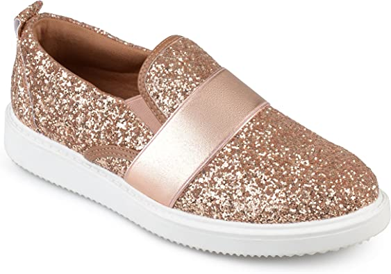 Journee Collection Womens Glitter Slip