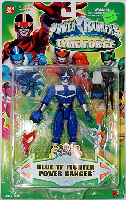 Power rangers Time force Green action 5 inches figure with weapon