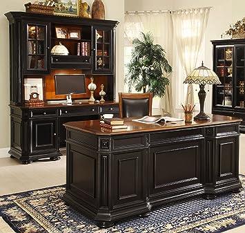 riverside furniture allegro executive desk in rubbed black - Riverside Furniture