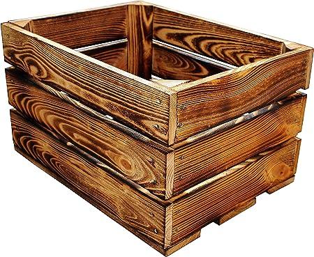 1 caja de madera para fruta, manzanas, vino, de 40 x 30 x 23,5 cm: Amazon.es: Hogar