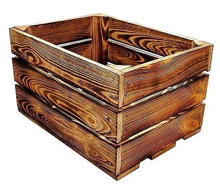 MigiEinkauf 1 Stück Holzkisten Obstkisten Apfelkisten Weinkiste 40x30x23,5  Cm TOP (Natur): Amazon.de: Küche U0026 Haushalt