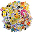 Cartoon Sticker Pack (66Pcs) The Simpson Waterproof Vinyl Stickers for Water Bottles,Laptop,Kids,Cars,Motorcycle,Bicycle,Skat